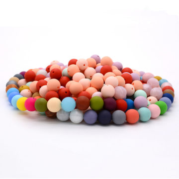 Round Silicone Beads Loose for DIY