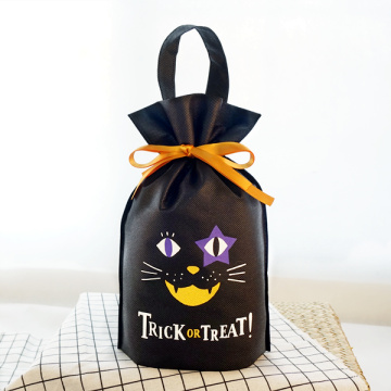 Halloween Black Non-Woven Standing Up Gift Packing Pouch
