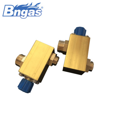 Natural gas valve adjustable big flowrate valve