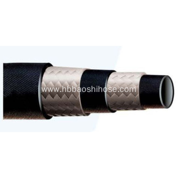 Two layers Fiber Braided Rubber Tube