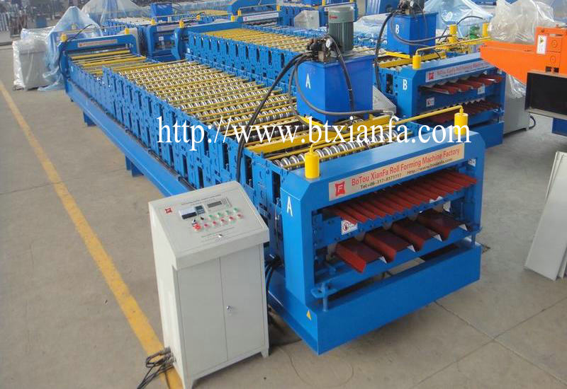 metal deck roof machine