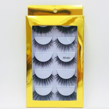 5pair lashes book wholesale synthetic fuax mink eyelashes