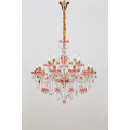 Modern Restaurant Design Red Painting Crystal Chandelier
