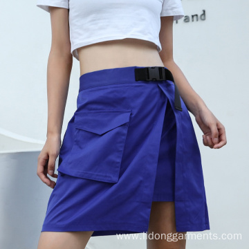 Adjustable Side Pocket Hip Hop Style Skirt