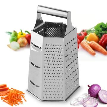 stainless steel 6 side cheese vegetable grater