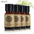 AKARZ Famous brand Tea tree Vanilla Frangipani Peony essential oil For Aromatherapy Massage Spa Bath skin care 10ml*4