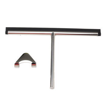 StainlessSteel Squeegee forShower Doorswith Suction Cup Hook