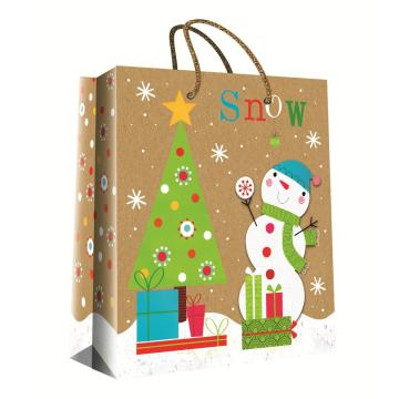 CHRISTMAS SERIES KRAFT GIFTBAG38-0