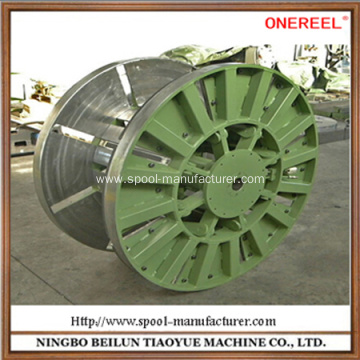 empty electrical cable wheel