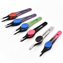 Factory supply beauty makeup eyebrow tweezers Multi-functional brows clip Makeup tweezers