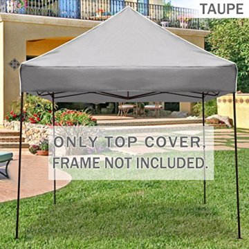 Folding awning with iron frame