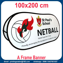 Custom Printed Horizontal Pop Up A Frame Banner