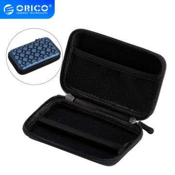 ORICO External HDD Storage Case SSD Pouch Bag For 2.5 Inch Hard Drive MP3 MP4 Card Reader Earphone Cables Bag Blue
