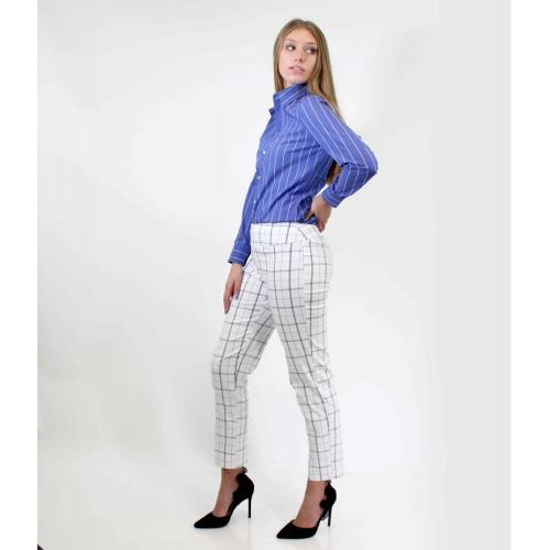 Ladies Bengaline Trousers  Yarn Dyed