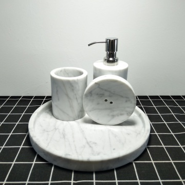White marble soap dishs