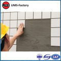 Ceramic tile adhesive and grout for shower walls