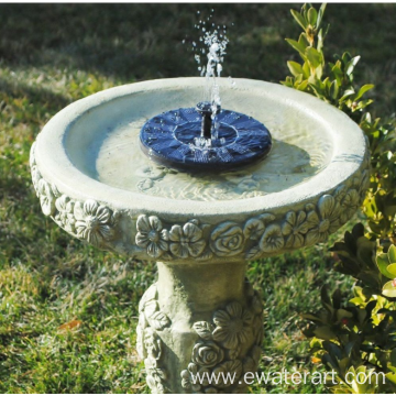 solar outdoor water fountain