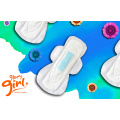 Super absorbent sanitary napkins with ions