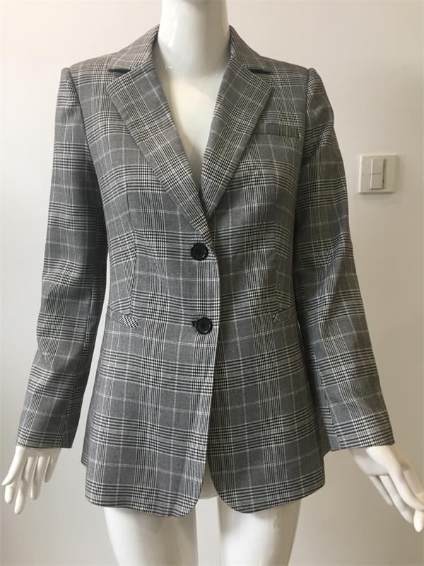 Classical Check Suit For Lady