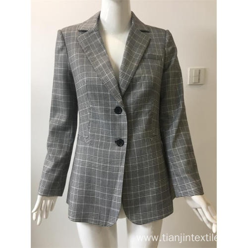 T/R yarn dyed check suit