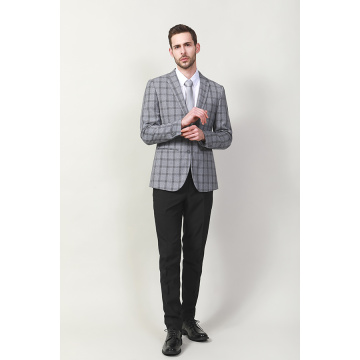 MEN'S CHECK POLY VISCOSE SUIT