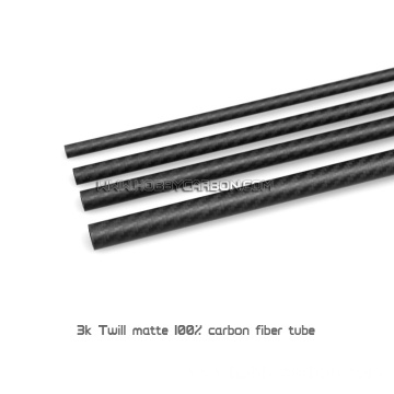 Big 3K Carbon Fiber Tubes with Tube Cap