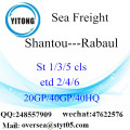 Shantou Port Sea Freight Shipping To Rabaul