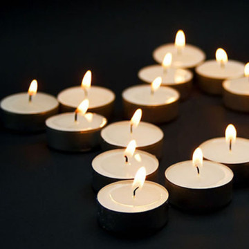 high quality real wax single color tealight candles