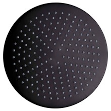Round brass black antique top shower head