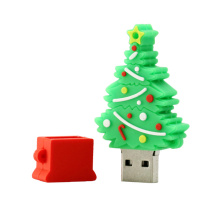 pvc usb weihnachtsbaum cartoon usb flash drive