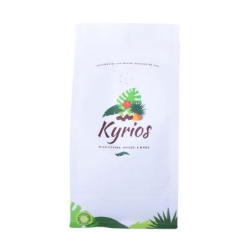 Resealable Recyclable Material Block Bottom Ziplock Coffee Tea Packaging Packets Wholesale From China
