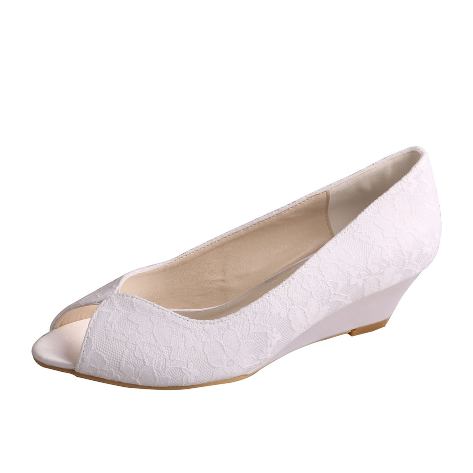 Wedge Wedding Shoes For Bride