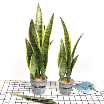 66cm Artificial Realistic Succulent Plants Indoor Tiger Fur Potted Tropical Fake Long Leaf Bonsai Office Hotel Balcony Home Deco