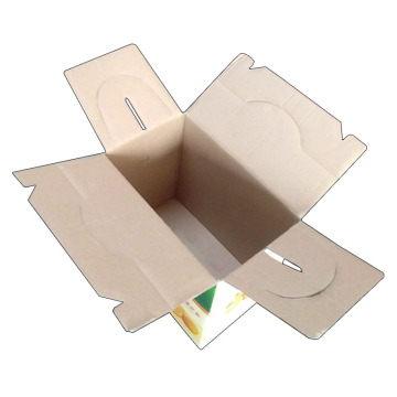 Orange portable packaging color box