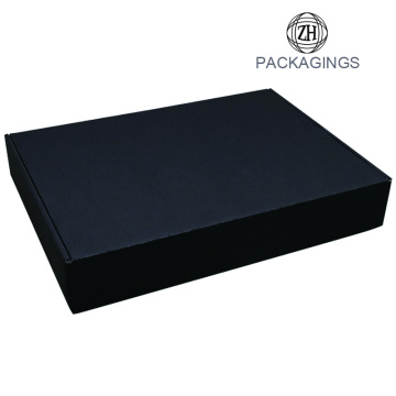 Retail matte black empty moving box
