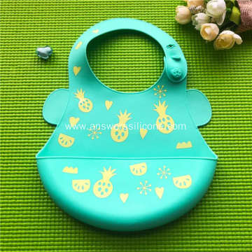 Cute silicone feeding bib for baby kids