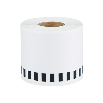 Compatible brother thermal adhesive barcode label roll