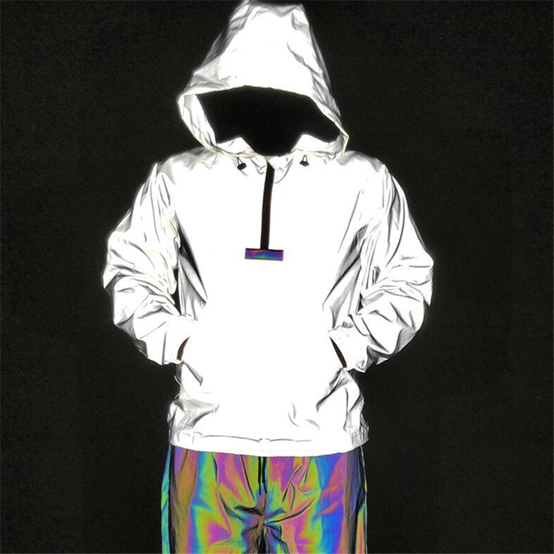 Rainbowtouches Custom Hip Hop Multicolor Reflective Jacket Men2