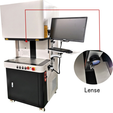 metal plastic Fiber Laser Marking Machine With Protective Cover