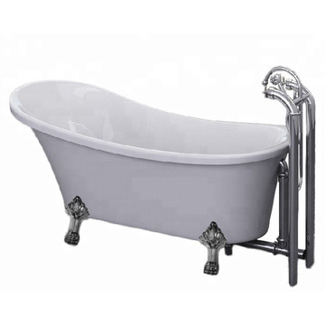 Classic Acrylic Clawfoot Bathtub with Four Legs