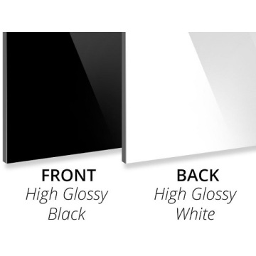 Aluminum Composite Panel Gloss Black/Gloss White PE Core