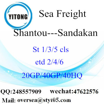 Shantou Port Sea Freight Shipping To Sandakan