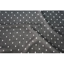 Polyester CDC Multi Color Swiss Dot Jacquard Fabric