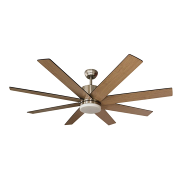 Eight wood blades ceiling fan