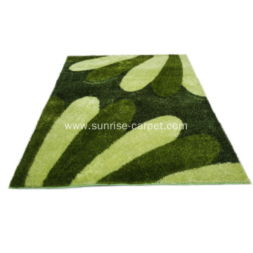 100% Polyester Silk Shaggy Carpet with 1200D pattern