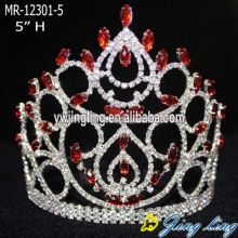 Rhinestone Red Wholesale Pageant Crowns
