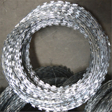 Galvanized Crossed Razor Barbed
