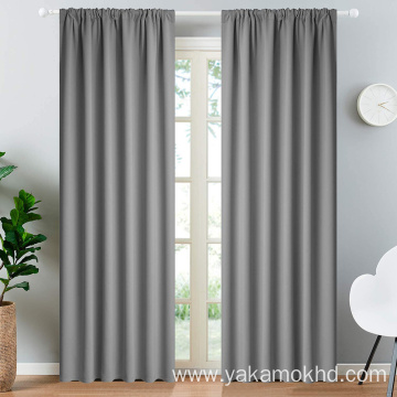Rod Pocket Blackout Curtains 84 Inch Long