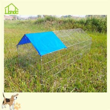Wire electroplated chicken coop