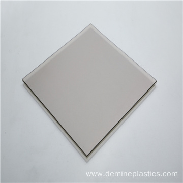 Grey plastic sheet solid sheet polycarbonate panel